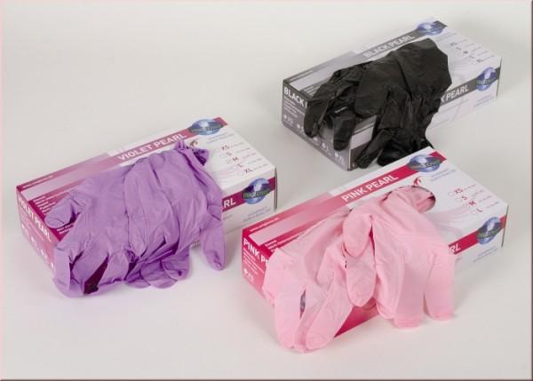 Unigloves Nitril Handschuh Pink Pearl 100 Stück Spenderbox L
