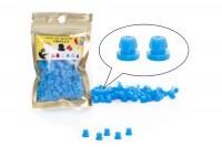 NADELSTANGENGUMMIS - Einrastfunktion 100 Stück -Blau
