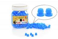 NADELSTANGENGUMMIS - Einrastfunktion 500 Stück -Blau