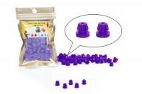 NADELSTANGENGUMMIS - Einrastfunktion 100 Stück -Purple