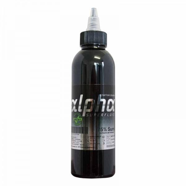 ALPHA superfluid75% Sumi, 30 ml Tätowierfarbe