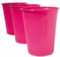 Plastikbecher 0,20 Liter, ROSA 100 Stück
