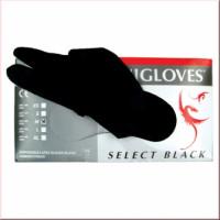Unigloves Select Black Einweghandschuhe, ungepudert, GRÖßE XL 100 Stck.